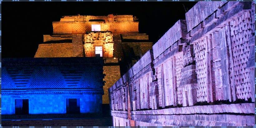 Espect culo nocturno uxmal luz y sonido en uxmal yucat n for Espectaculo nocturno de xcaret